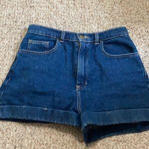 American Apparel dark high waisted shorts